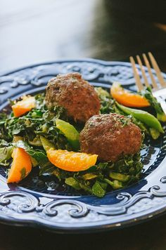 One Skillet Rosemary Meatballs With Dijon Collard Greens & Apricots + Honest Whole 30 Recap, Week Three! #whole30 #paleo #glutenfree #primal