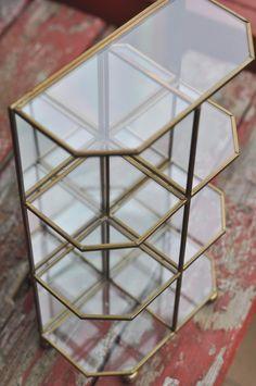 Glass shelves Vintage  https://www.etsy.com/listing/514830947/wood-pull-toy-rare-dog-antique-handmade?ref=listing-shop-header-0 #vintage #glass #shelves #home #decor #display Shabby #chic #farmhouse #cottage