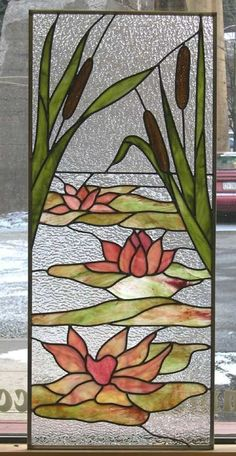 Williams lotus stained glass Plus Stained Glass Quilt, Stained Glass Flowers, Faux Stained Glass, Stained Glass Designs, Stained Glass Panels, Stained Glass Projects, Stained Glass Patterns, Glass Painting Patterns, Glass Painting Designs