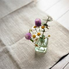 ♥ always a tiny bottle around the house, filled with wildflowers, been doing this for many years