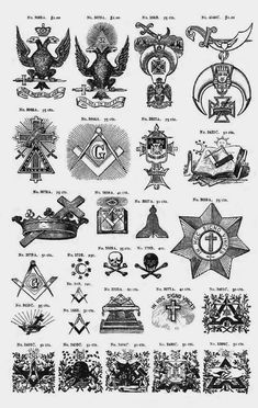 "Albert Gallatin Mackey - Masonic Symbolism, ""The Symbolism of Freemasonry: Illustrating and Explaining its Science and Philosophy, its Legends, Myths and Symbols"", Occult Symbols, Masonic Symbols, Occult Art, Ancient Symbols, Illuminati Symbols, Mayan Symbols, Viking Symbols, Egyptian Symbols, Tatoo"