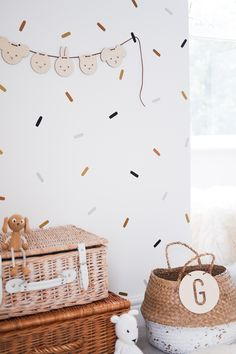 Midi Sprinkle sticks wall stickers set - any colour combination — Happy Decs Baby Room Wall Decals, Vinyl Wall Decals, Kids Wall Stickers, Childrens Stickers, Hand Painted Walls, Woodland Nursery Decor, Wall Design, Design Design, House Design