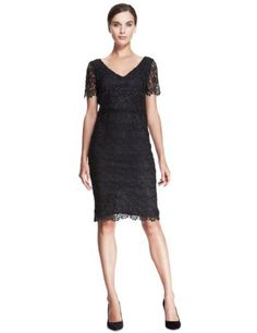Autograph All-Over Floral Lace Dress-Marks & Spencer