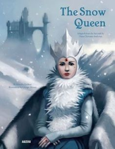 """The Snow Queen """"Italian illustrator Baroni's background in character design brings a fantasy aesthetic to Godeau's retelling of this Andersen fairy tale. [...] Baroni's most remarkable creation is the Snow Queen's black castle, shown on the endpapers; soaring up from two mountain peaks, it features a dizzying aerial bridge and dozens of lit windows."""" #PublishersWeekly"""