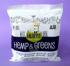 Hilary's Eat Well Hemp & Greens Burger.