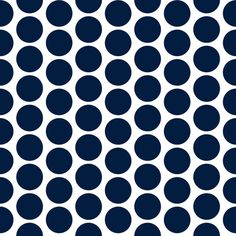 Sharp navy and white* polka dots (1 inch wide dots @ 300 ppi).  * NOTE that as Spoonflower does not print white, the white areas will be the base color of the fabric/paper to be printed.  © Su Schaefer 2016      Printed nicely on basic cotton ultra as shown in the 2nd thumbnail above (double click for a clearer view), but if a color match is critical it would pay to test with a swatch on the preferred fabric before ordering yardage.   Navy blue available separately: 'Navy blue solid ...