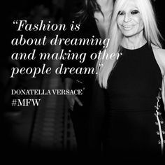 Donatella Versace is the mastermind behind iconic and career defining gowns. No doubt we'll be dreaming big after the #versace show tonight. #MFW