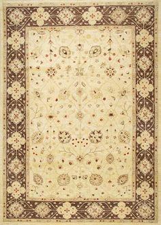 Peshawar 5th Avenue Beige Brown Wool   Rug