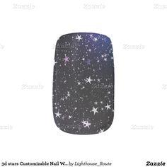 3d stars Customizable Nail Wraps & Toe wraps