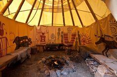 Sioux-Tipi mit Symboliner