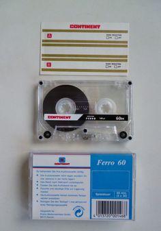 1 CONTINENT cassette FERRO 60 / Audiokassette / Leerkassette / audio cassette