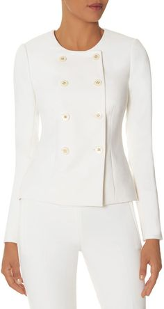 Double Breasted white elegant blazer - Olivia Pope approved