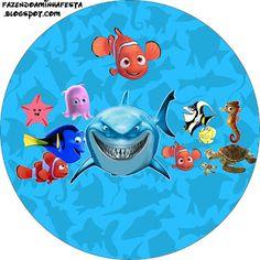 Nemo - Kit Completo com molduras para convites, rótulos para guloseimas, lembrancinhas e imagens!
