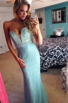 2017 sexy light blue beading sweetheart slim-line long evening dresses,party dresses,with spaghetti straps