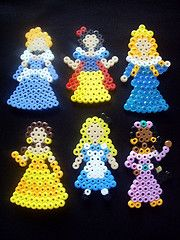 They need eyes.... But cute Princess Melty Beads