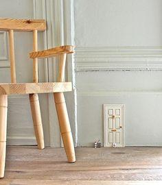 Big Chair Little Door.  Who lives behind the door?