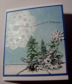 Bissen buduaari: Joulukortteja hiljaisuuden täytteeksi