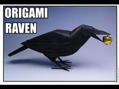 Raven Robert Lang Origami Davison Bramble check it out! Origami Car, Origami Mouse, Origami Yoda, Origami Star Box, Origami And Kirigami, Origami Fish, Paper Crafts Origami, Oragami, Origami Birds