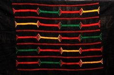 Africa | Detail from a Dogon indigo embroidered textile.  Dogon country, Mali