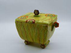 CARLTON WARE VERY RARE HAND PAINTED LIDDED BOX ANEMONE PATTERN AUSTRALIAN DESIGN | eBay