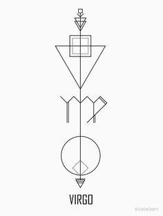 'Virgo Astrology - Zodiac Arrow' Art Print by alcateiaart - horoscoop Horoscope Tattoos, Zodiac Sign Tattoos, Virgo Horoscope, Astrology Zodiac, Virgo Sign Tattoo, Virgo Symbol, Astrology Numerology, Numerology Chart, Virgo Art