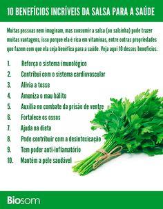 10 Benefícios Incríveis da Salsa