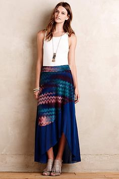 Think I'd like to try a maxi skirt again. If I do though, I'd like one with a slit or an asymmetrical cut just so I'm not tripping all over it with my short stubby legs.