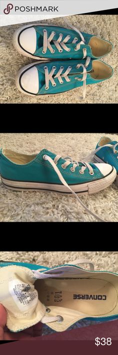 ea6c556c1cc7 Converse Teal Tennis Shoes -Size 8 Pair of teal green Converse in a woman s  size