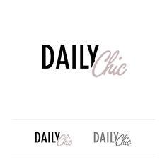 DAILY CHIC | #LogoDesign #GraphicDesign #Illustrator | FOLLOW #MPLMRC81 ON TWITTER https://twitter.com/mplmrc81/ AND LINKEDIN http://it.linkedin.com/in/mplmrc81/