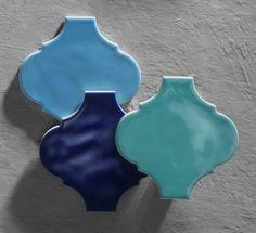 Tre nuovi colori nella collezione arabesque Silk di Tonalite: Navy, Azure e Turchese. Cersaie 2016