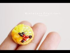 Miniature Fruit Tart Tutorial - Polymer Clay Tutorial ( 미니어쳐 과일 타르트 만들기 ) - YouTube