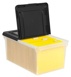 Office Depot Brand Stackable File Tote Box Letter Size 10 710 H x 22 45 D x 13 710 W ClearBlack by Office Depot & OfficeMax
