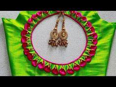 Cutwork Blouse Designs, Cotton Saree Designs, Wedding Saree Blouse Designs, Simple Blouse Designs, Stylish Blouse Design, Blouse Neck Designs, Traditional Blouse Designs, Design Youtube, Long Dress Design