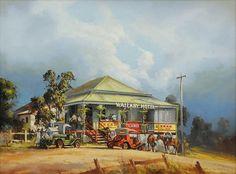 Bob's Wallaby Hotel by D'Arcy Doyle Australian Painting, Australian Artists, Australian Bush, Landscape Paintings, Beautiful Pictures, Artwork, Image, Watercolours, Homeland