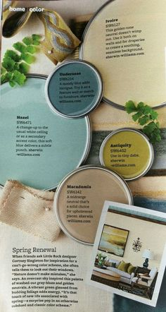Blue, Green, Turquoise, Teal and Taupe Paint Colors. Coastal Paint Color. Hanzel…