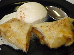 Apple Enchiladas- Delicious and easy dessert featuring SweeTango apples  Recipe here: http://www.examiner.com/article/apple-enchiladas-recipe-an-apple-a-day-series