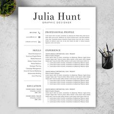 Teacher Resume Template | CV Template And Cover Letter Template For Word |  3 Pack | Professional And Creative Design   Mac Or Pc