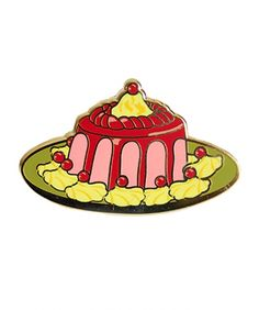 Just in! Jello Mold Enamel Pin a nod to the retro foods we love.