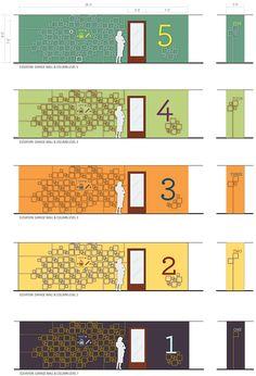 A proposal for the design of a parking garage for the Brooklyn Botanic Garden. Signage Board, Park Signage, Directional Signage, Wayfinding Signs, Parking Design, Signage Design, Environmental Graphics, Environmental Design, 3d Modelle