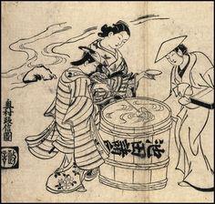 18th century sake drinkers and courtesan #sake #nihonshu #japan