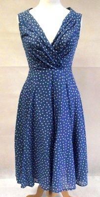 1960s Vintage Louis Feraud Spotted Tea Dress