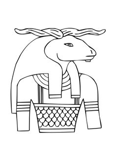 Pin on Coloring pages/LineArt-Ancient Egypt