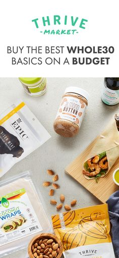 Thrive Market is the best place to find Whole30 approved products on a budget. Get Whole30 approved brands and other basics for up to 50% off retail everyday!