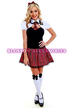 Teachers Pet School Girl Fancy Dress Hens Night Party Costume Outfit | ... Teachers PET School Girl Fancy Dress Hens Night Party Costume Outfit