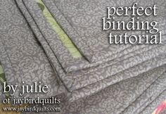 Perfect Binding Tute-really good pics and instructions showing how to join at the end.