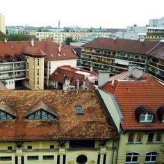 A belváros felülről 2012 apr 25 Hungary, Cabin, House Styles, Home Decor, Decoration Home, Room Decor, Cabins, Cottage, Home Interior Design