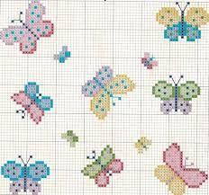 Resultado de imagen para punto de cruz mariposas pequeñas