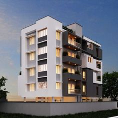 4 unit apartment building plans architecture case study on residential apartments in india architectural home decor style amazing modern level house designs with gl exterior picture design this uses not Residential Building Plan, Building Exterior, Building Design, Building Plans, Model Building, Facade Architecture, Residential Architecture, Amazing Architecture, Le Riad