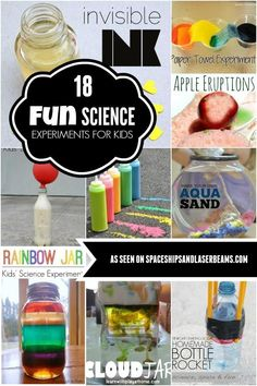 Lots of fun diy experiments! Spark imagination and exploration with these fun science experiments for kids. Mad Science Party, Cool Science Experiments, Preschool Science, Science Fair, Science For Kids, Science Activities, Science Projects, Activities For Kids, Indoor Activities