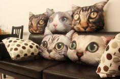 Cat Pillow - esty seller